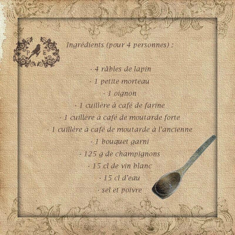 lapin râbles ingrédients