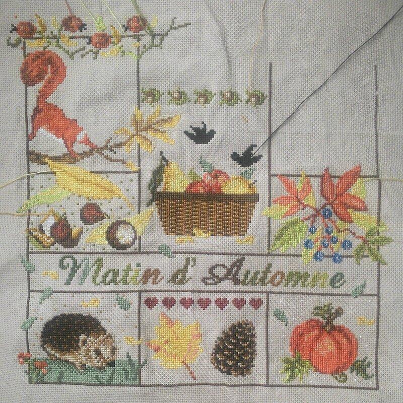madamelafee cross stitch вышивка крестиком point de croix automne