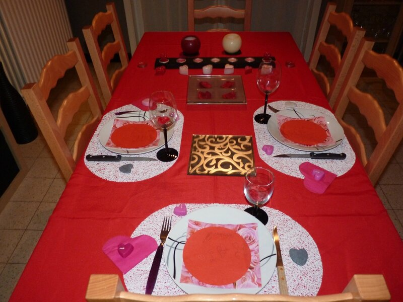 Table Saint-Valentin 2013