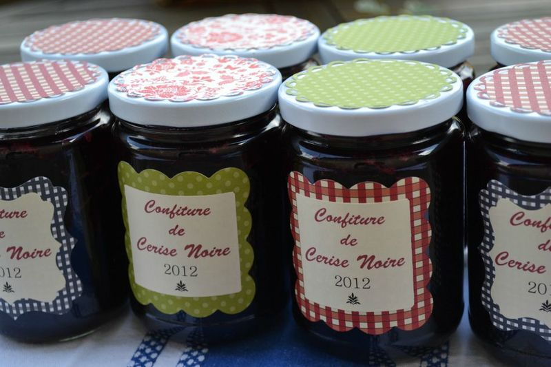Pots de confiture customis s fa on scrap le scrap blog de c line - Couvercle pot de confiture ...