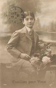 Jeune homme 1900 vintage