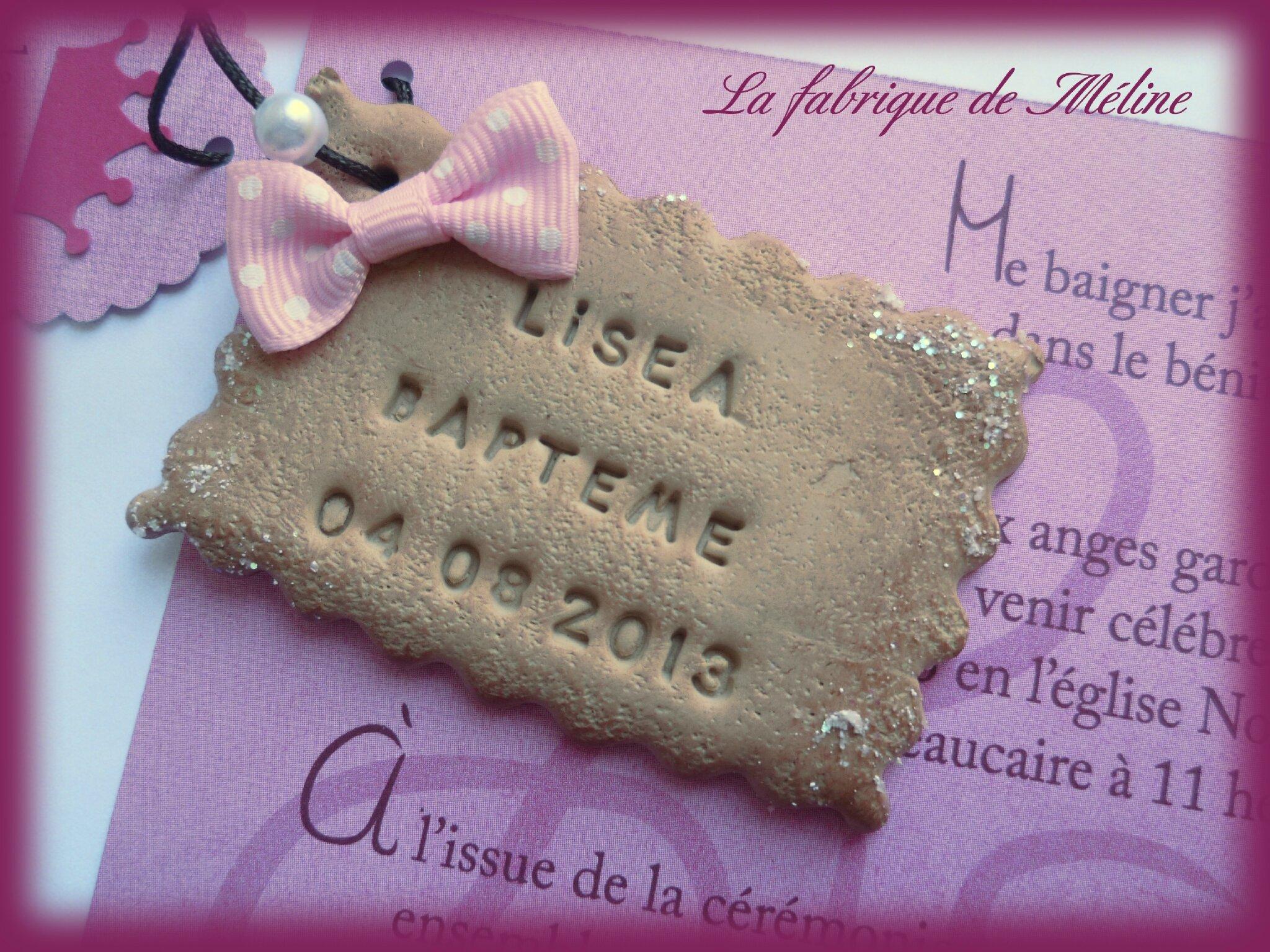 """Assez Faire-part baptême """"biscuit"""" personnalisé - La fabrique de Méline QO21"""