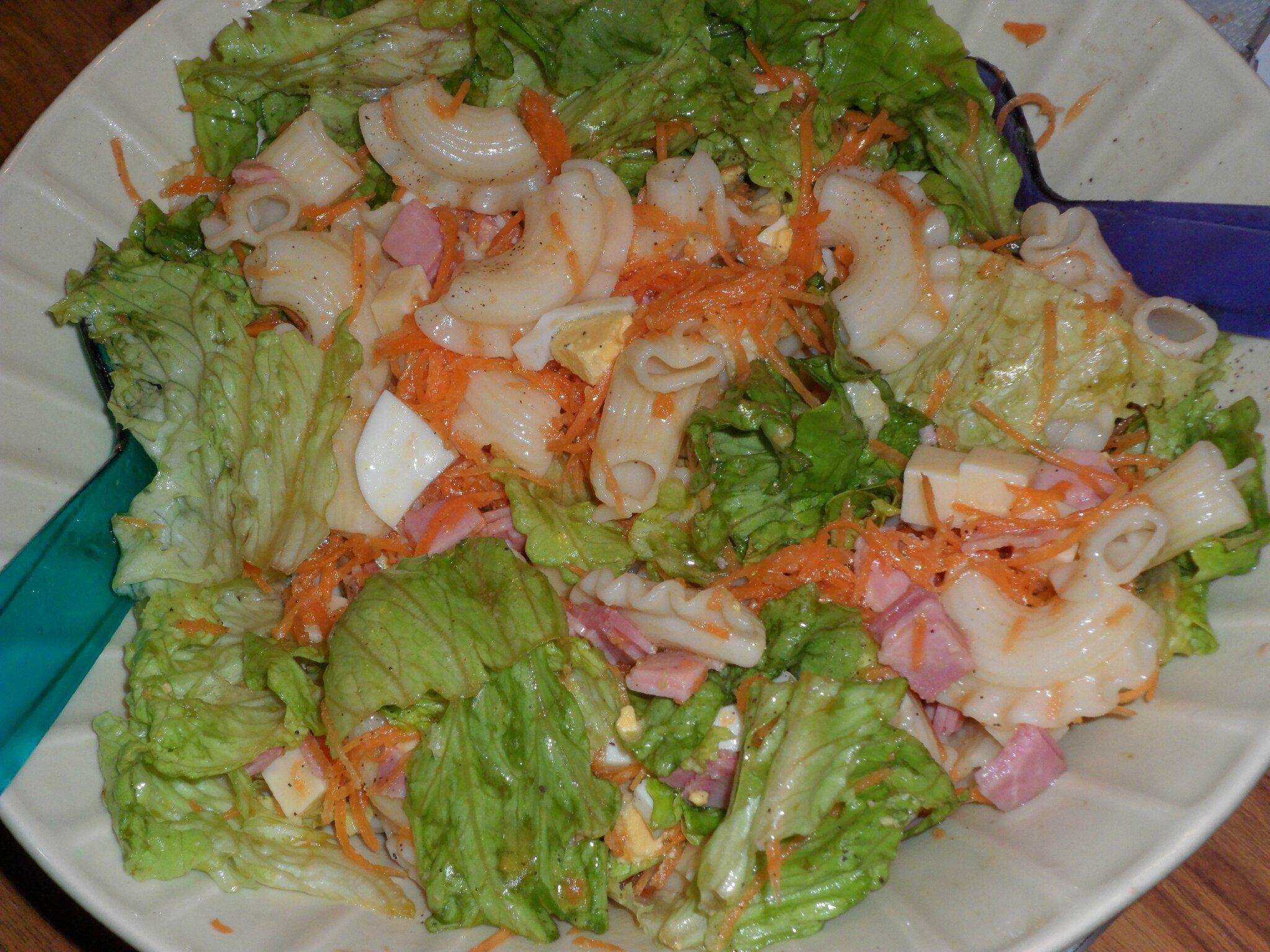 salade de p 226 tes jambon emmental crudit 233 s miam miam