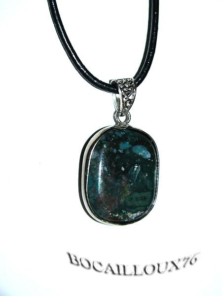 "PENDENTIF ""CABOCHON"" AGATE INDIENNE 3"