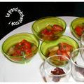 Mousse de féta et tomates cerises en verrine