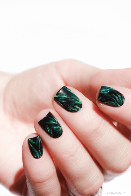 nail art feuilles tropicales_-5