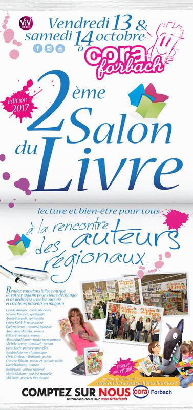 Affiche 2e Salon du Livre Cora Forbach - Linda Leininger