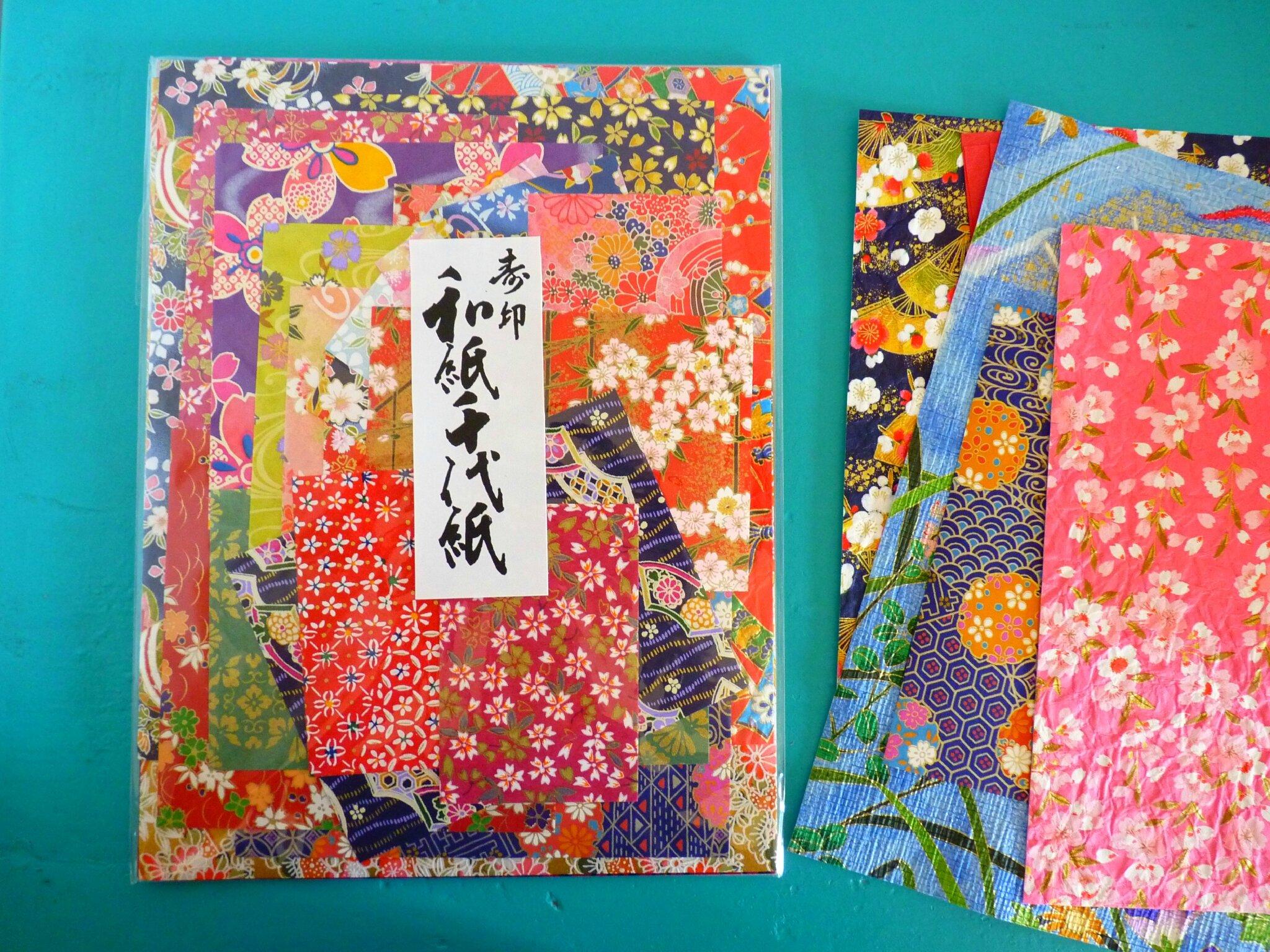voici de tres jolis assortiments de papiers japonais tout. Black Bedroom Furniture Sets. Home Design Ideas