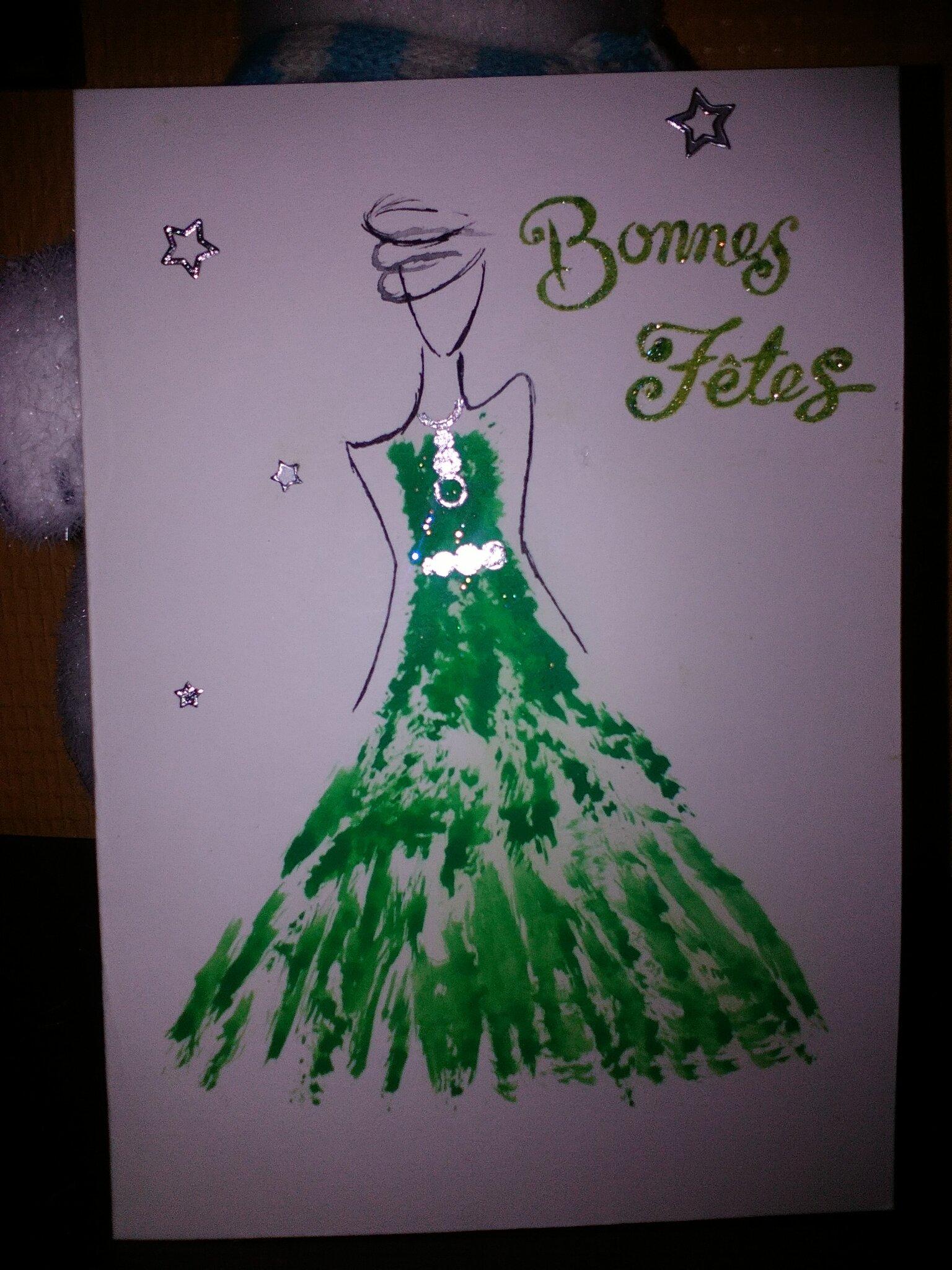 Carte robe de fête