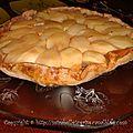 Tarte tatin pomme-poire 4 épices, caramel et glace à la vanille