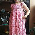 Article n°73 : robe au crochet au point ananas adaptable à toutes les tailles