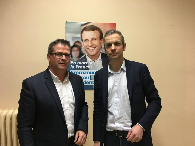 Thomas Collardeau Bertrand Sorre candidat elections legislatives 2017 investiture mouvement en Marche Macron circonscription Avranches Granville