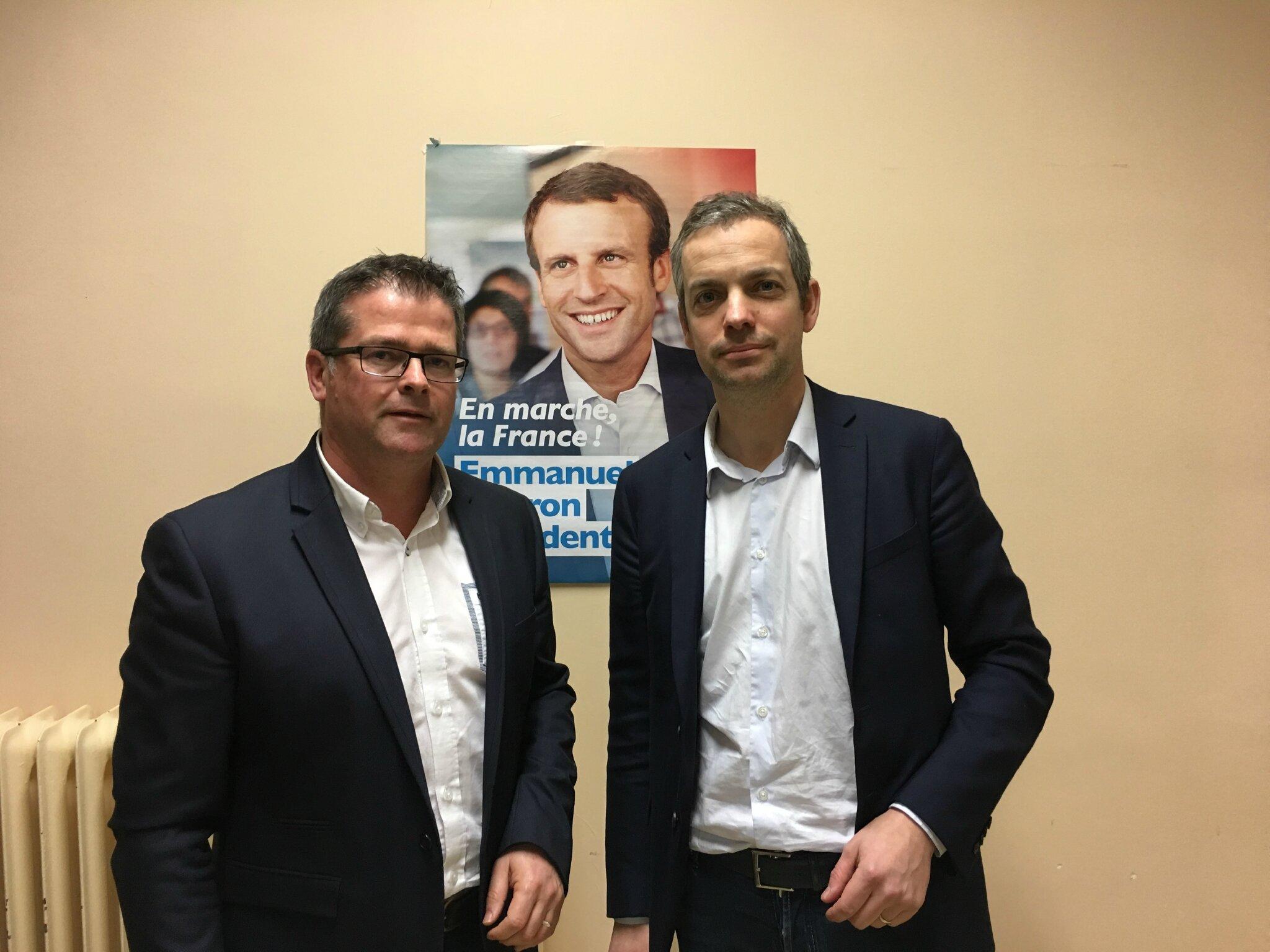législatives sud Manche : duel Thomas Collardeau / Bertrand Sorre pour l'investiture d'En Marche, le mouvement d'Emmanuel Macron
