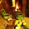 Tablée médiévale hivernale