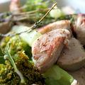 Wok de brocoli au boudin blanc