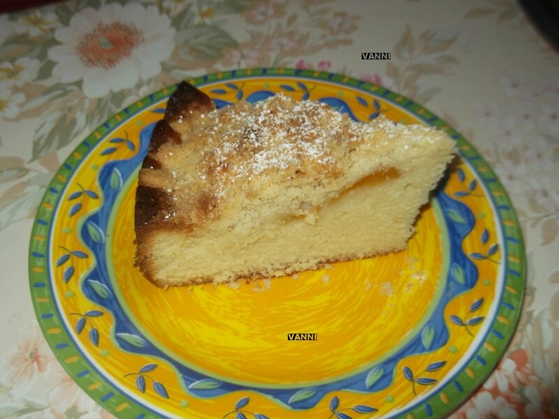 Tranche de gâteaux aux abricots