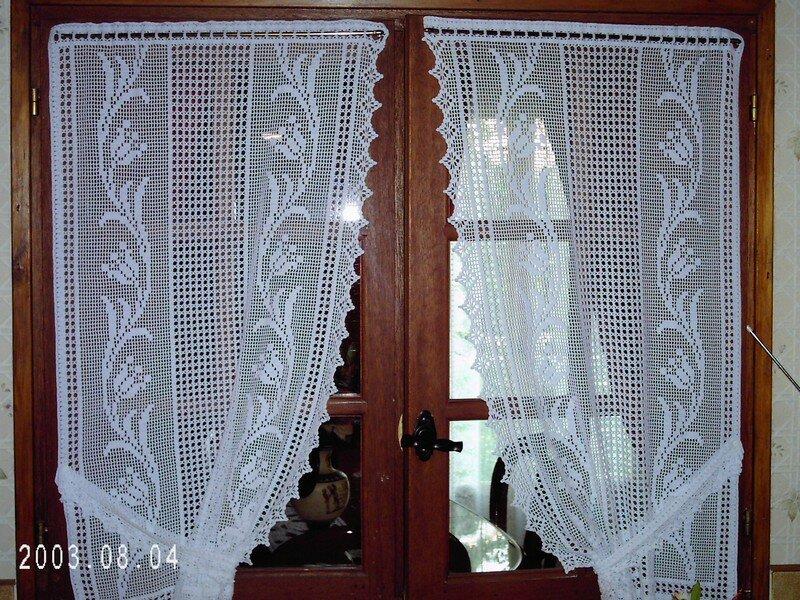 rideau de cuisine au crochet. Black Bedroom Furniture Sets. Home Design Ideas