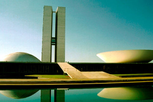 Oscar Niemeyer, ''congrès national du Brésil'' 1978, Brasillia