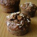 Muffins au chocolat et noix de coco, parce qu'il me fallait les deux.