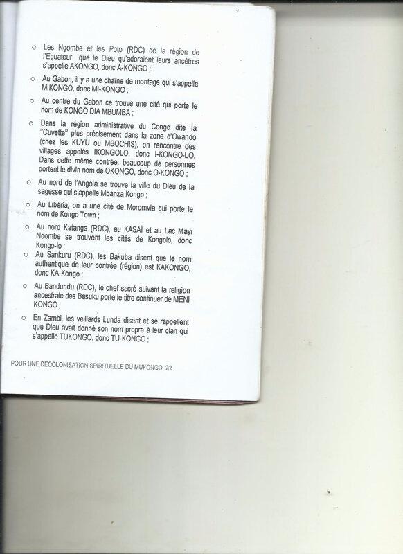 POUR UNE DECOLONISATION SPIRITUELLE DU MUKONGO 22