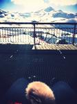 neige et ciel bleu