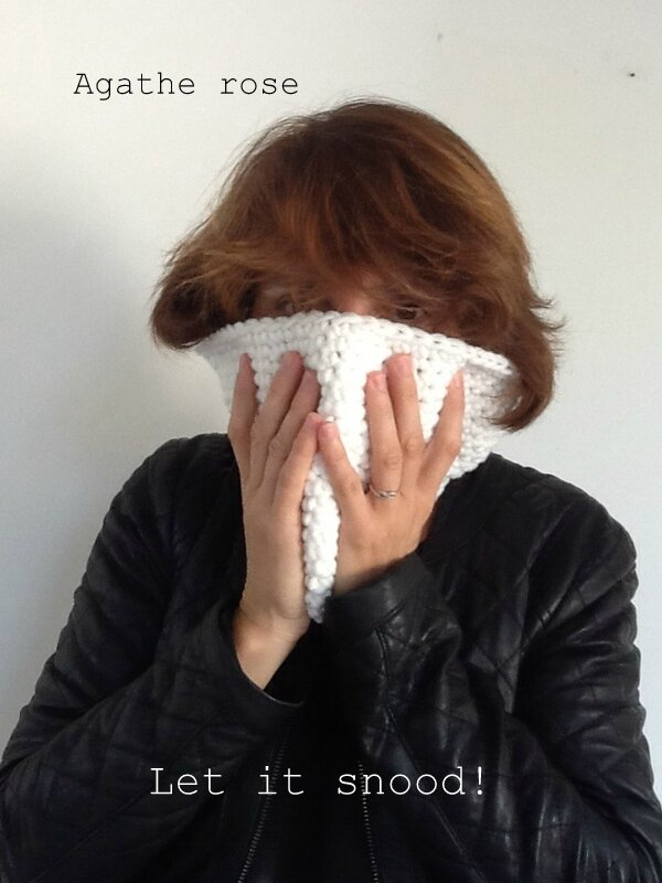 snood creavea agathe rose
