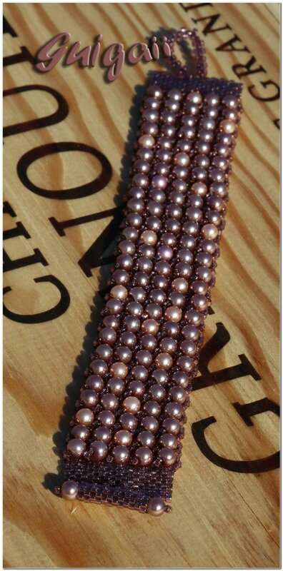 178 Bracelet Magie de Perles 5 rangs