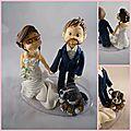 Un nouveau couple de mariés
