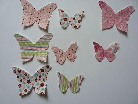 papillons tissus rose en liberty