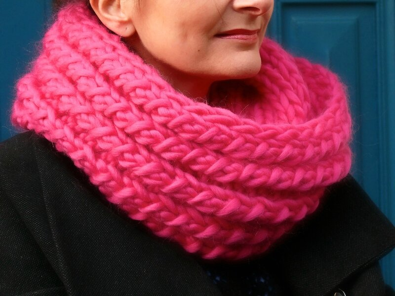 Bollywool le maxi snood bee made - Tricoter un snood debutant ...