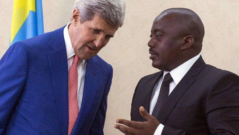 J. Kabila et J. Kerry *Ph: Coraliekiengeshow