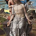 Andrea mantegna (1430/31-1506), christ as the suffering redeemer, 1495-1500