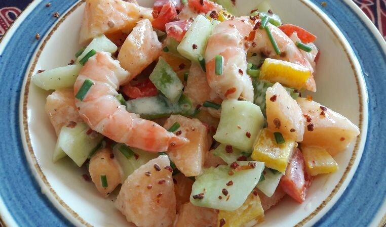 salade melon-crevettes (3)