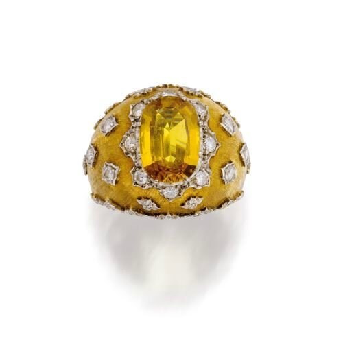 Yellow sapphire and diamond ring, Buccellati