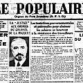 1936 : le programme du front populaire