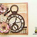Carte scrappée : la montre à gousset pour prendre son temps !