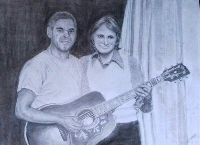 L'idole et son fan, crayon de papier sur format A3