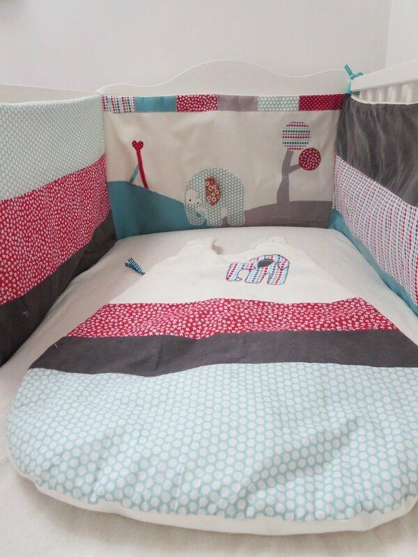 tour de lit et gigoteuse gontran l 39 l phant breizh addict. Black Bedroom Furniture Sets. Home Design Ideas