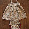 Robe d'été et culotte assortie, 35€