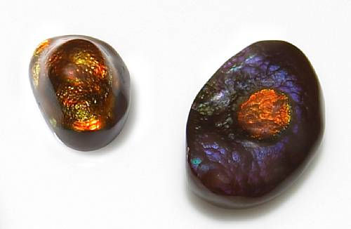 Two Fire Agate Cabochons (Arizona)