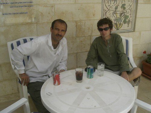 Amman, piscine d'un hotel, avec un jordanien
