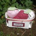 Panier de fraises tilda, cadeau de Sandra