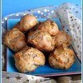 Gougères à la courge butternut, noisette et mimolette