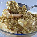Risotto de crevettes au gingembre