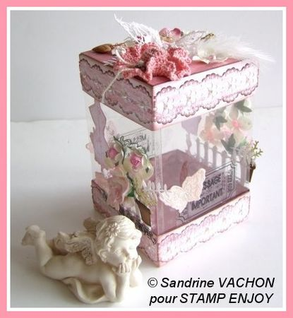 boite douceur de vivre tuto dt stamp enjoy le scrap de sandrine vachon. Black Bedroom Furniture Sets. Home Design Ideas