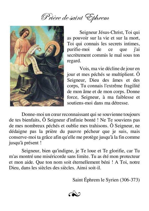 (02-17) Prière de saint Ephrem