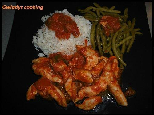 Id e repas 8 pp poulet basquaise riz haricots for Idee repas a partager