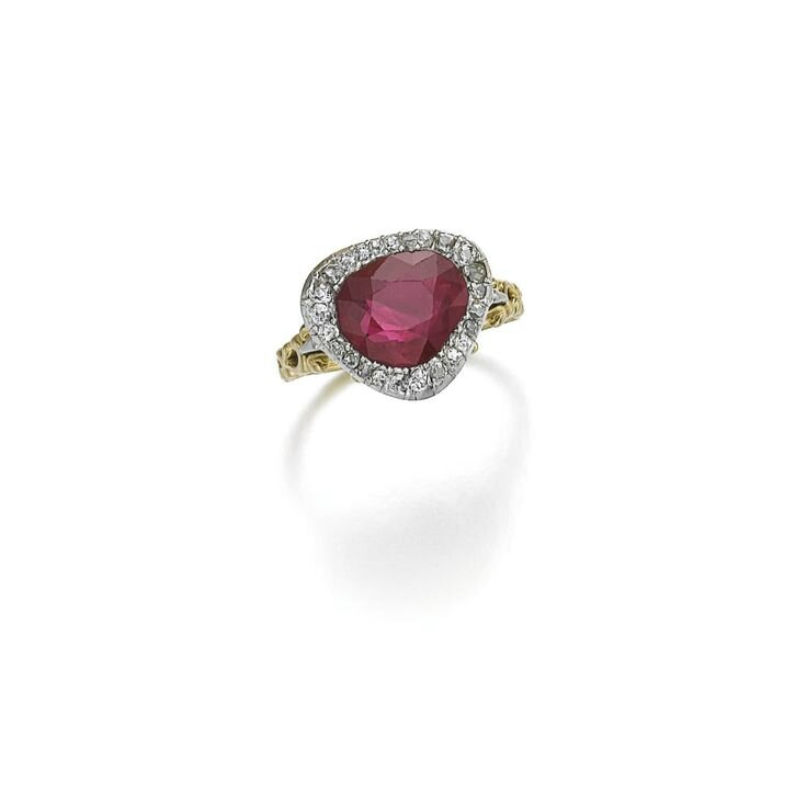 Ruby and diamond ring, early 20th century and later
