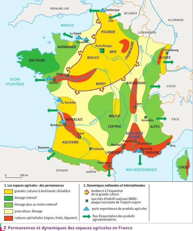 Agriculture - Carte 2