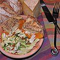 De port-launay à douarnenez: butternut rôtie, tomme du kleuzic et crumble de blé noir